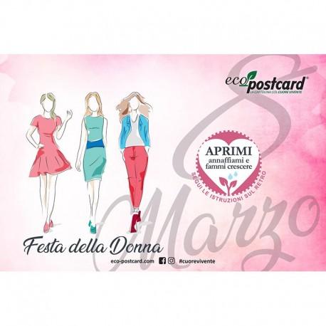 Eco-Postcard Auguri Festa della Donna 8 - Ipomea