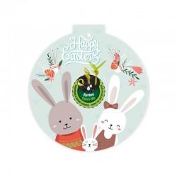 Eco-Decors decorazione ecologica Pasqua Conigli con Realtà Aumentata – Viola del pensiero