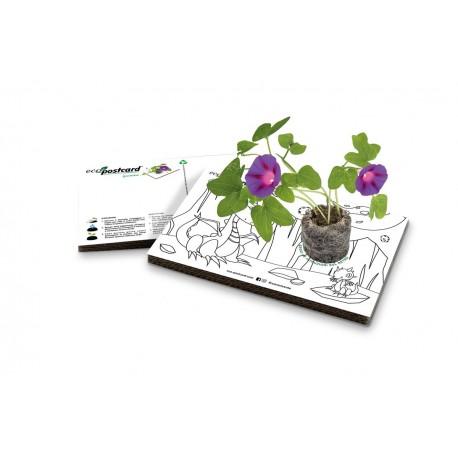 Eco-Postcard colorabile dinosauri - ipomea