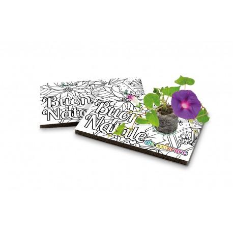 Eco-Postcard colorabile Natale - ipomea