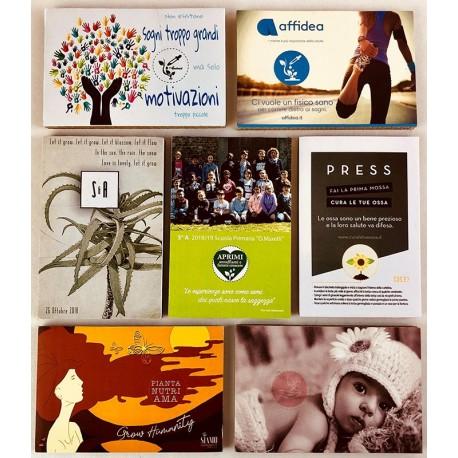 Eco-Postcard personalizzate con supporto grafico